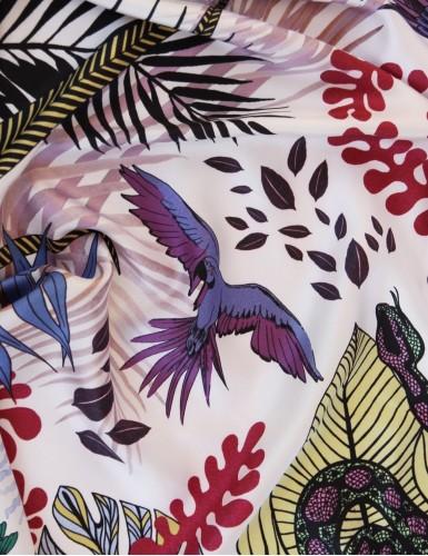 Tangalle garnet square scarf - detail