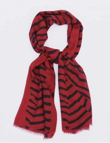 Foulard homme Carnac fond rouge - pack