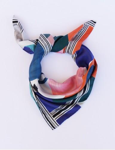 Tulum blue square scarf - pack