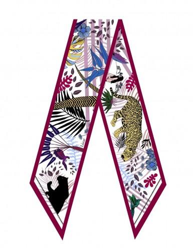 Tangalle garnet sash scarf - flat