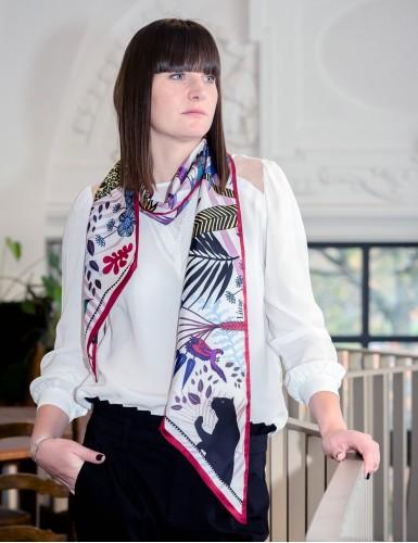 Tangalle garnet sash scarf - neck