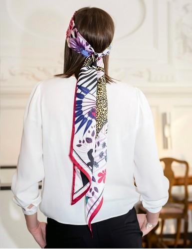 Tangalle garnet sash scarf - head back