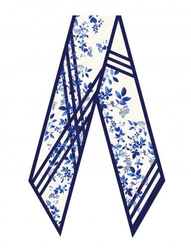 Bréhat blue sash scarf - flat