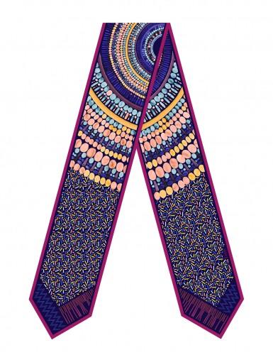 Kho Phangan Night sash scarf - front