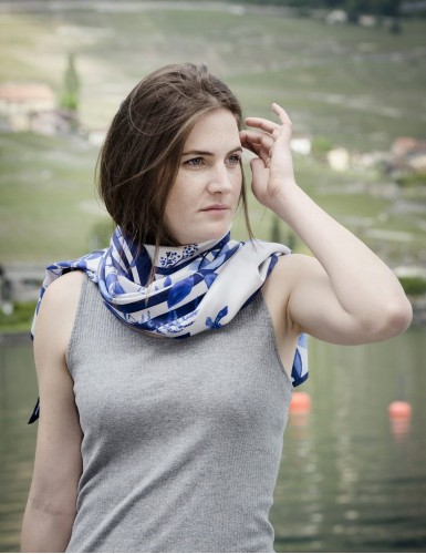 Foulard magique Bréhat bleu - neck