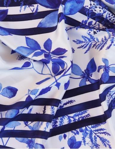 Foulard magique Bréhat bleu - detail