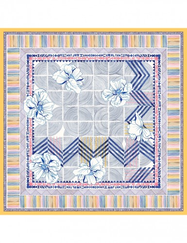 Maehama light blue scarf 90 - front