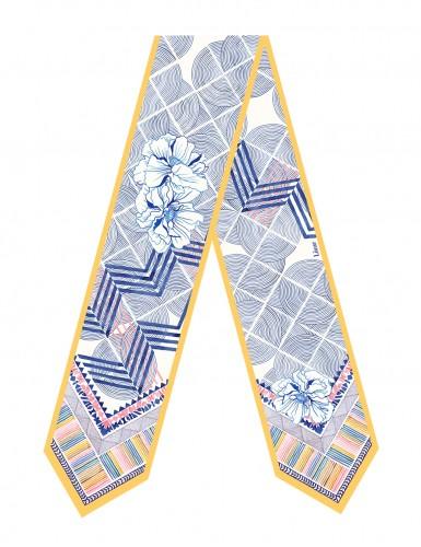 Écharpe fine Maehama bleu clair - front