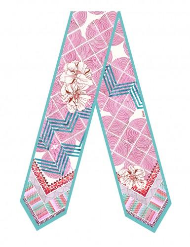 Maehama fushia sash scarf - front
