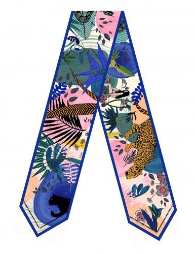 New Tangalle blue sash scarf - flat