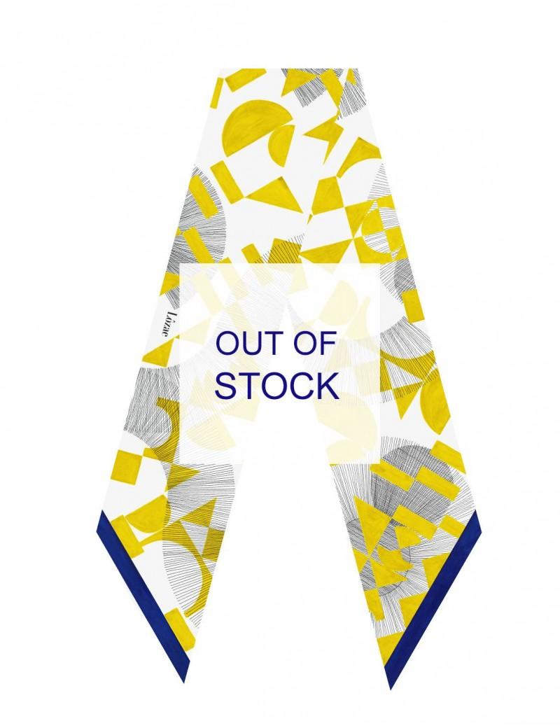 Santorini yellow sash scarf - flat