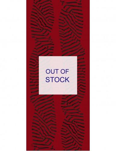 Foulard homme Carnac fond rouge - flat