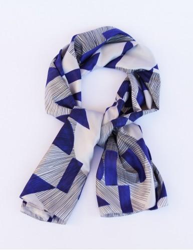 Foulard magique Santorin bleu - pack