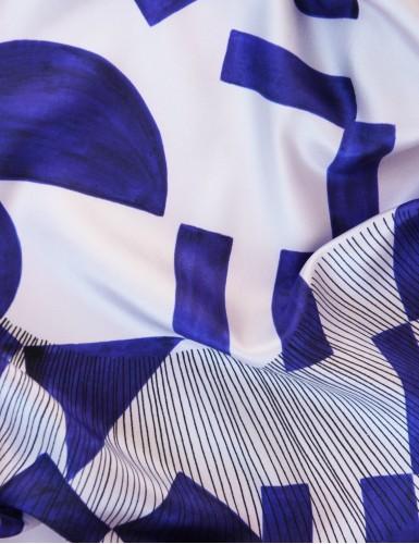 Foulard magique Santorin bleu - detail