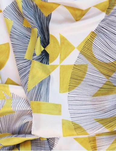 Foulard magique Santorin jaune - detail