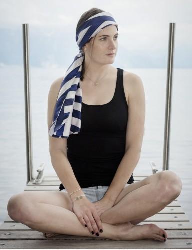 Foulard magique Ouessant bleu marine - head