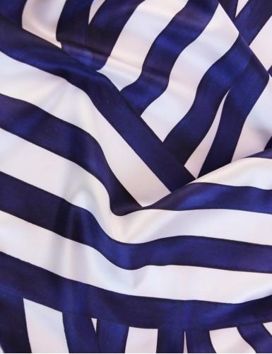 Foulard magique Ouessant bleu marine - detail