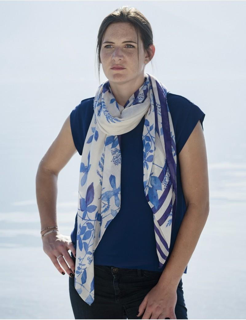 Étole Bréhat bleu - neck long