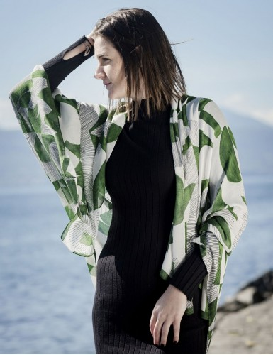 Étole Santorin vert - worn