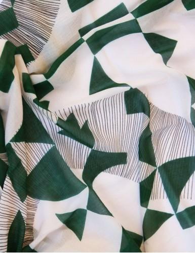 Étole Santorin vert - detail