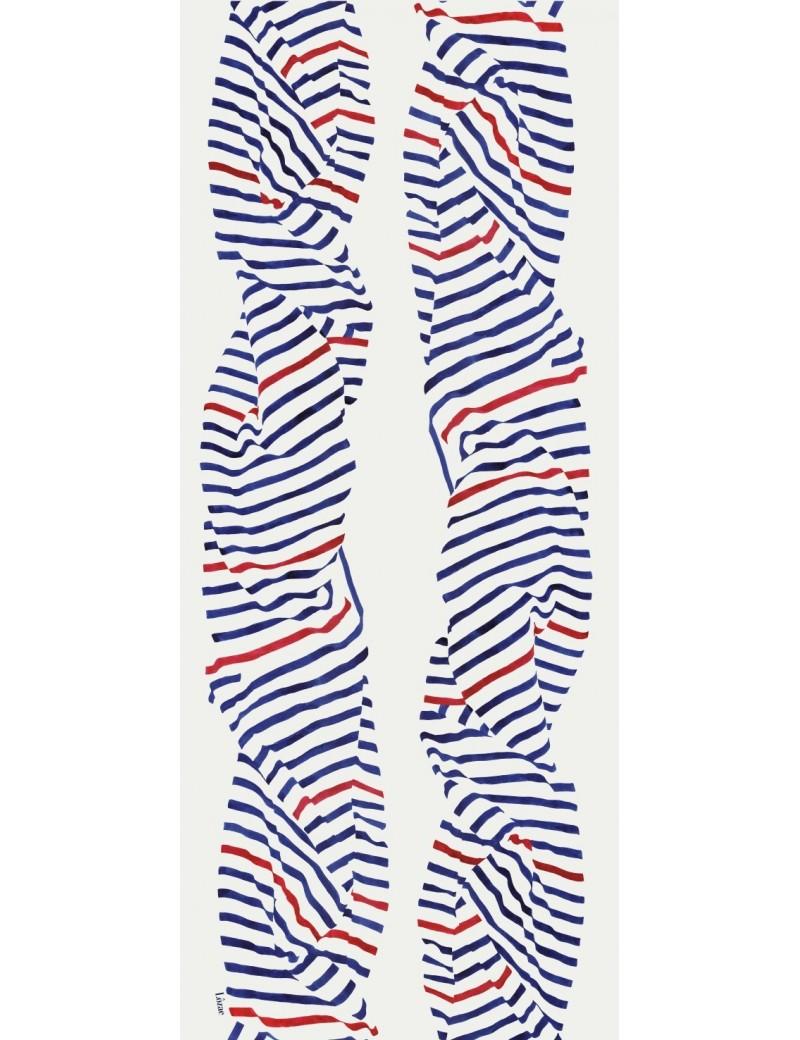 Foulard homme Carnac tricolore - flat