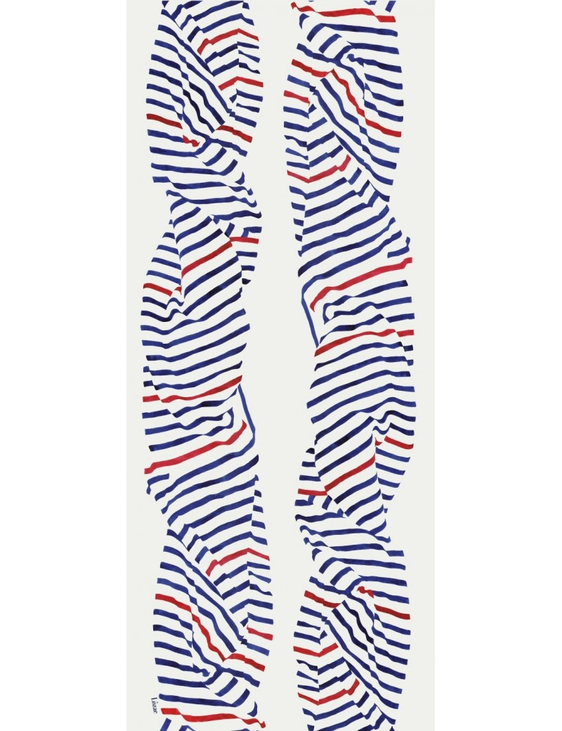 Foulard homme Carnac tricolore - flat