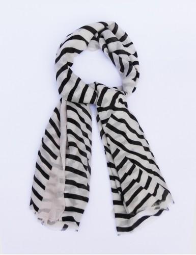 Foulard homme Carnac noir et blanc - pack