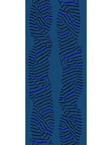 Foulard homme Carnac fond bleu - flat