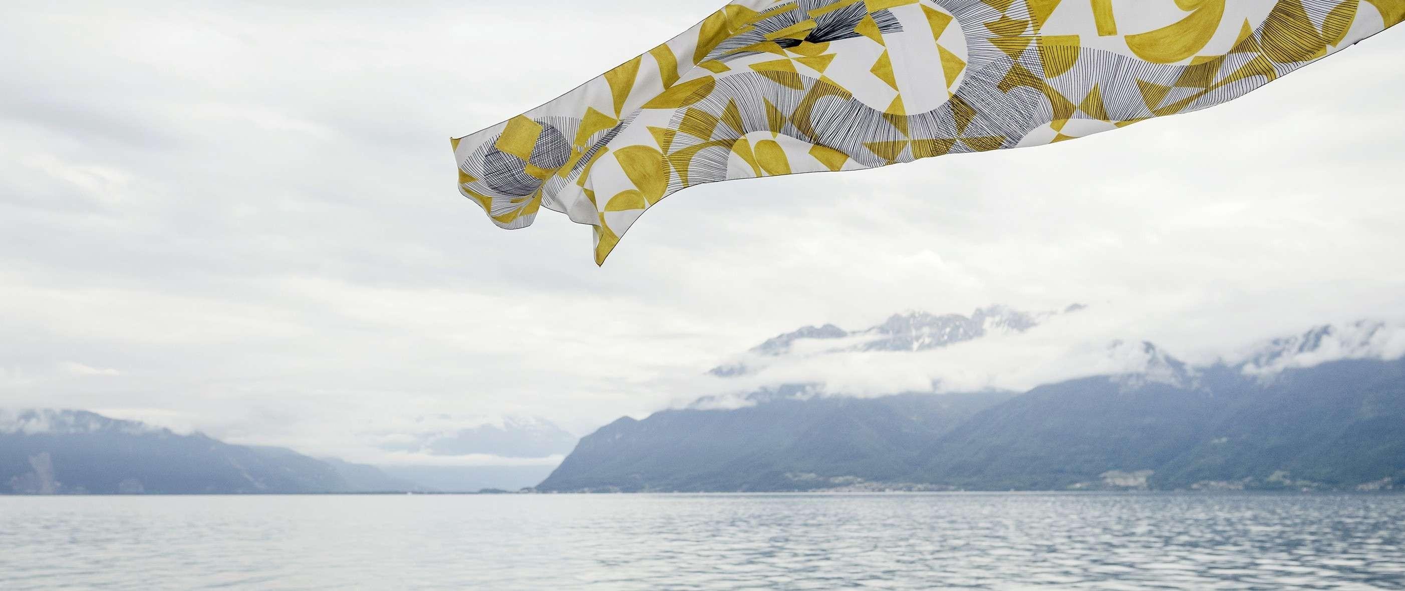 Santorini Yellow Magic scarf